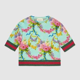 Gucci Children's flower garlands print sweatshirt