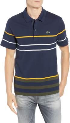 Lacoste Regular Fit Stripe Cotton Polo