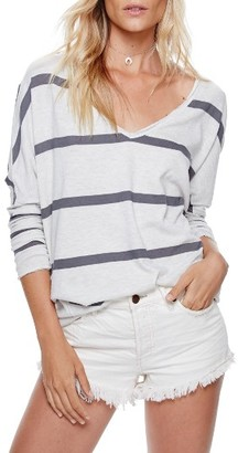 Women's Free People Upstate Stripe Tee $68 thestylecure.com