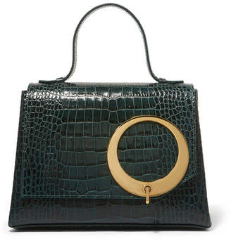Trademark - Harriet Croc-effect Leather Tote - Dark green