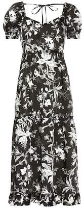 McQ Ruffled Négligé Soho Florals dress