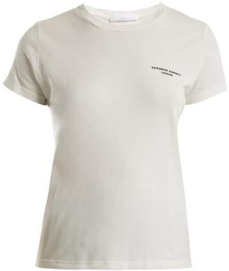 Katharine Hamnett Katie Reissue Logo Printed Cotton T Shirt - Womens - White