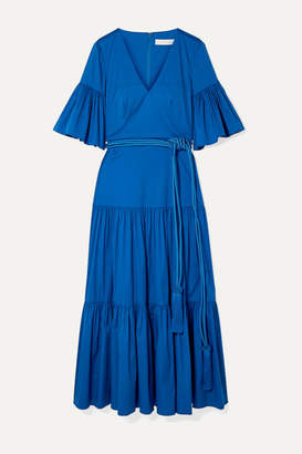 Borgo de Nor Teodora Cotton-blend Poplin Maxi Dress - Blue