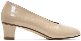 Martiniano Beige Patent High Glove Heels