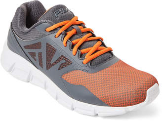Fila Grey & Orange Skyspan Running Sneakers