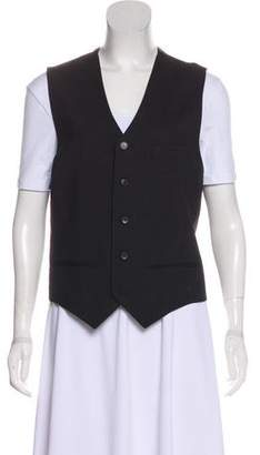 J. Lindeberg Striped Button-Up Vest