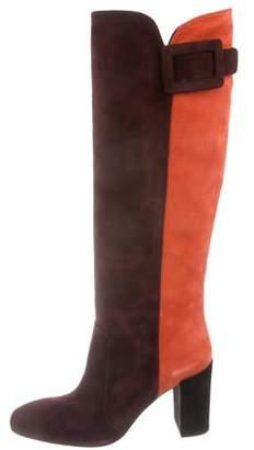 aa63d6a766d Roger Vivier Suede Colorblock Boots w  Tags