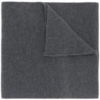 Moncler logo plaque scarf