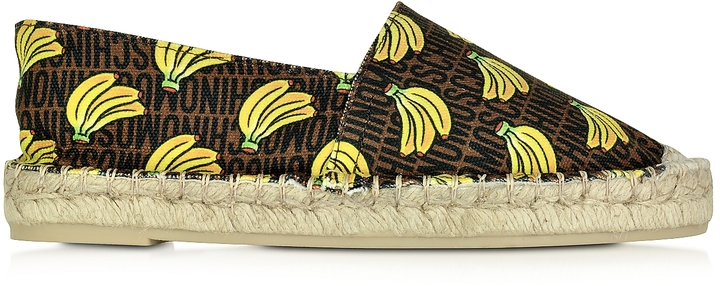 Moschino Moschino Banana Bunch Canvas Espadrille