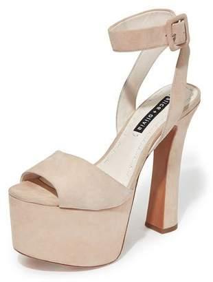 Alice + Olivia Reeta Platform Peep-Toe Sandals
