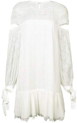 Jonathan Simkhai Silk Cut Out Sleeve Shift Dress