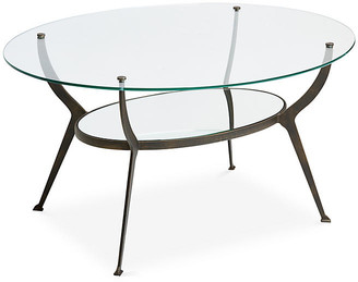 One Kings Lane Audrey Oval Coffee Table - Bronze/Gold