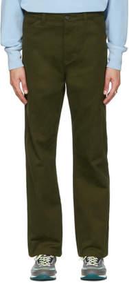 Acne Studios Green Workwear Trousers