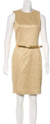 Michael Kors Metallic Sleeveless Dress