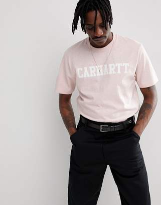 Carhartt WIP College T-Shirt In Pink