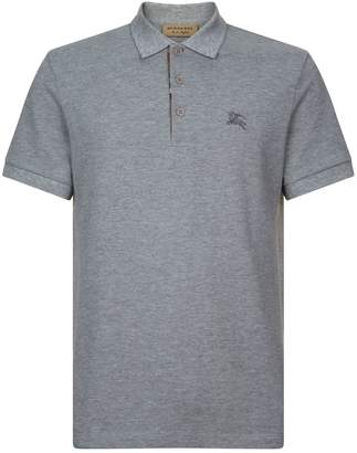Burberry Check Placket Polo Shirt