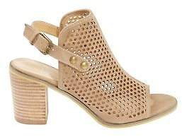 NEW KO Fashion Womens Heels Elca Heel Taupe - Shoes