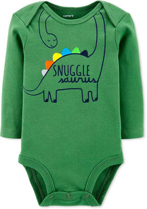 Carter's Carter Baby Boys Dinosaur Snuggle Collectible Bodysuit