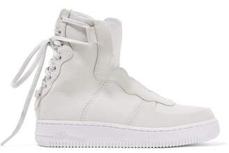Nike The 1 Reimagined Air Force 1 Rebel Xx Suede And Leather High-top Sneakers - Off-white