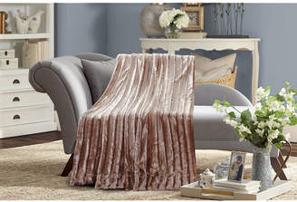 De Moocci Subtle Striped Super Soft Faux Fur Blanket