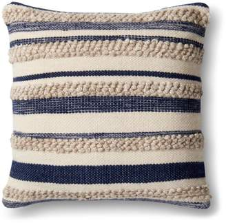 "Loloi Magnolia Home Striped Decorative Pillow, 22"" x 22"""