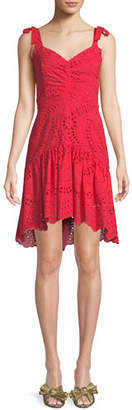 Parker Odysseia Sleeveless Eyelet Mini Dress