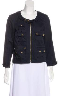 Chris Benz Scoop Neck Zip-Up Jacket