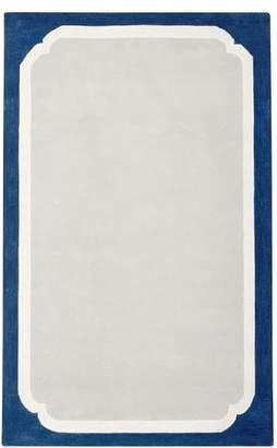 Pottery Barn Teen Color Pop Border Rug, 8x10, Navy/Gray