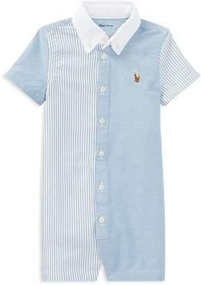 Ralph Lauren Boys' Contrast Fun Shirt Shortall - Baby