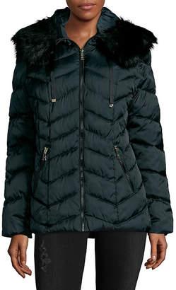 T Tahari Trimmed Puffer Coat