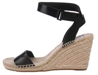 Tory Burch Ankle Strap Espadrille Wedges