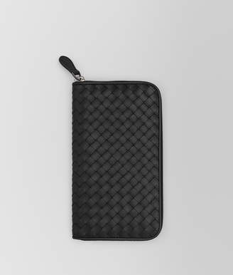 Bottega Veneta NERO INTRECCIATO ZIP-AROUND WALLET