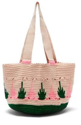 Sophie Anderson - Hoyas Woven Tote Bag - Womens - Green Multi