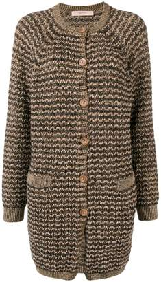 Twin-Set knitted cardi-coat