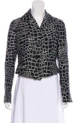 Lafayette 148 Cropped Abstract Blazer