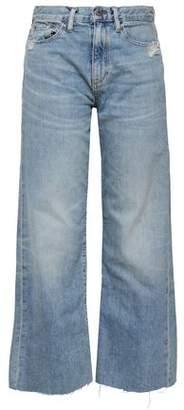 Simon Miller Faded High-rise Wide-leg Jeans