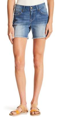 Seven7 Colorblock Whipstitch & Frayed Shorts