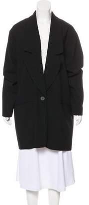 Halston Wool-Blend Longline Blazer