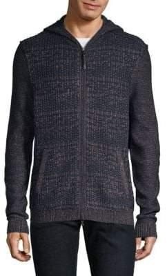 John Varvatos Knit Zip-Front Jacket
