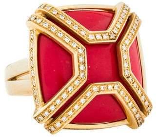 Di Modolo Coral & Diamond Favola Cocktail Ring