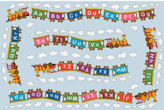 Fun Rugs Fun Time Edu Train Area Rug Rug