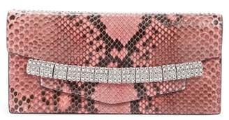Calvin Klein Crystal Strap Genuine Python Clutch