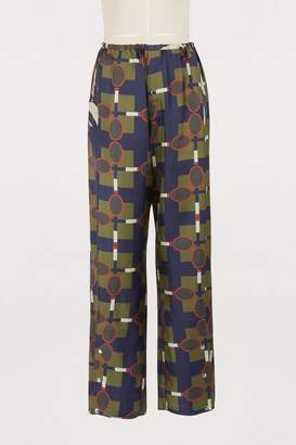 Ezan La Prestic Ouiston racket-print pants