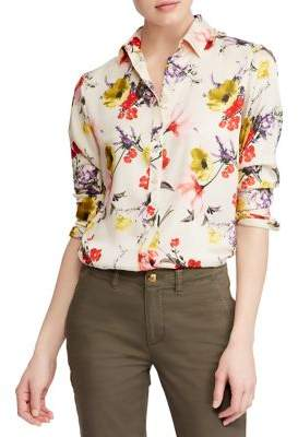 Lauren Ralph Lauren Petite Floral Twill Button-Down Shirt