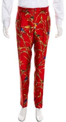 Dolce & Gabbana Silk Patterned Pants