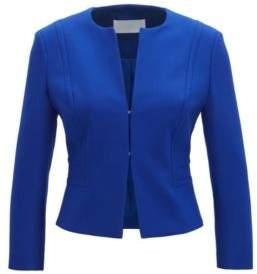 BOSS Hugo Cropped Blazer Jadama 8 Blue