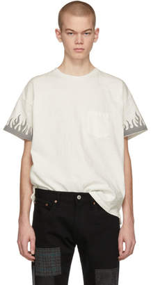 Remi Relief Off-White Fire T-Shirt