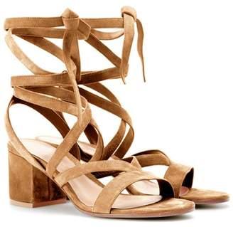 Gianvito Rossi Janis Low suede sandals