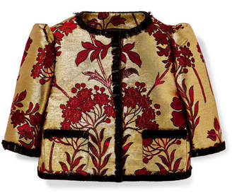 Dolce & Gabbana Ages 2 - 6 Lace-trimmed Brocade Jacket