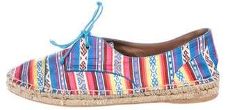 Tabitha Simmons Striped Lace-Up Espadrilles